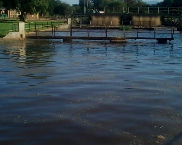 Mokopa wastewater treatment works with Biotreat results