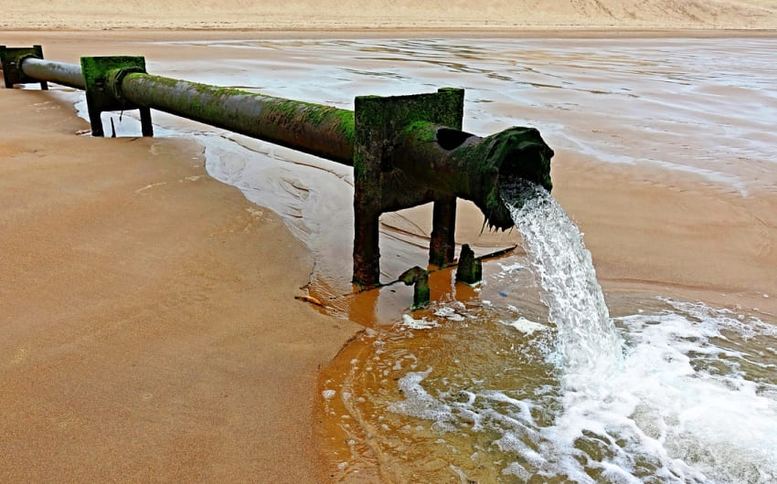 What happens to untreated sewage?